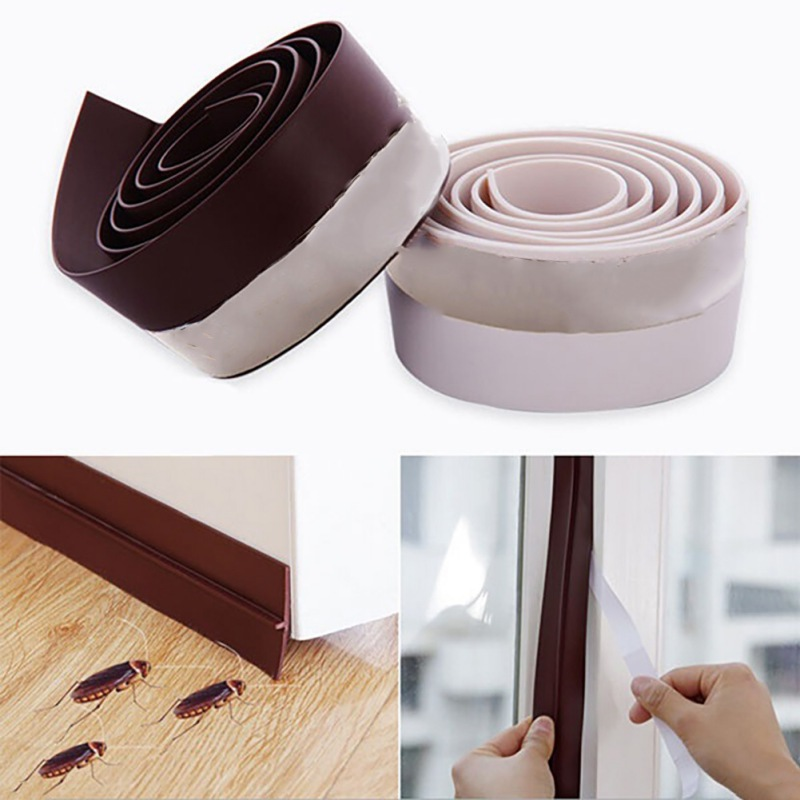 Self Adhesive Weather Stripping Silicone Seal Sweep Strip Fo